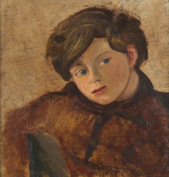 Portrait of Boby, 1946-1950, oil on canvas, 38 x 36 cm