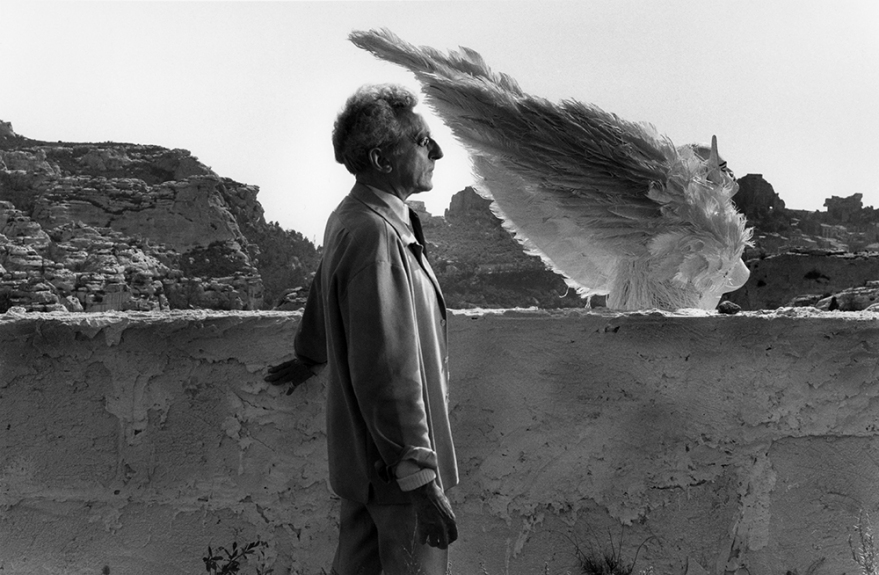 "Lucien CLERGUE Jean Cocteau et le Sphinx, dans ""le Testamen d'Orphée"", les Beaux-de-Provence, 1959, (réf. 1140-1), silver print on baryted paper laid down on aluminium, 80 x 120 cm, signed and numbered, Ed.8"