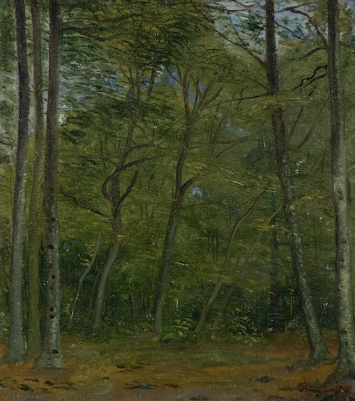 The park of Chambourcy, circa 1948, oil on canvas on wooden board, 46,5 x 38 cm