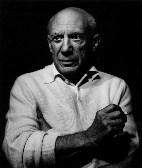 Lucien CLERGUE Picasso à la Cigarette III, Cannes, 1965, (réf. 280/53), silver print on baryted paper laid down on aluminium, 100 x 80 cm, signed and numbered, Ed.8